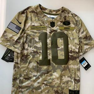Nike SF 49ers Garoppolo 10 Salute To Service Camo